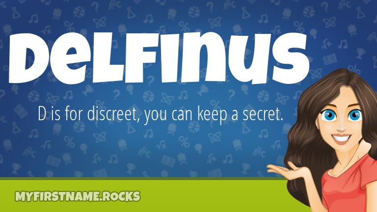 My First Name Delfinus Rocks!