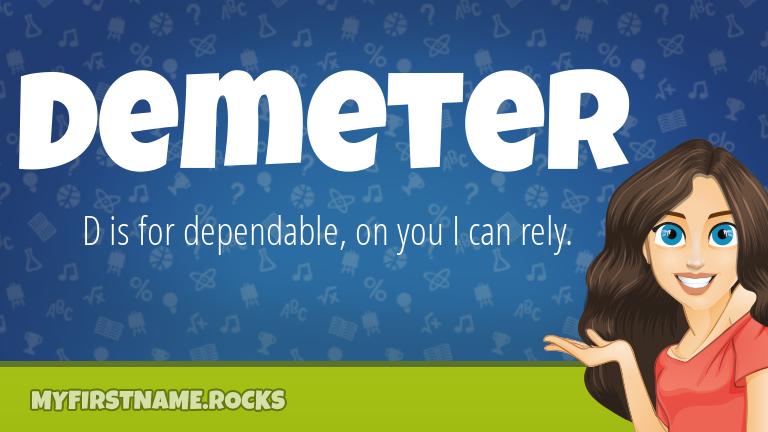 My First Name Demeter Rocks!