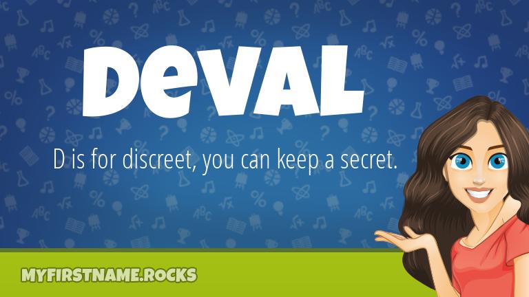 My First Name Deval Rocks!