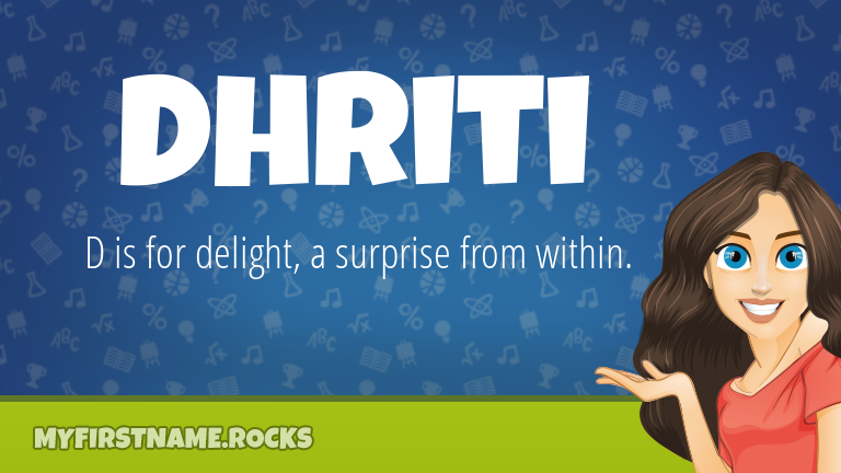 My First Name Dhriti Rocks!
