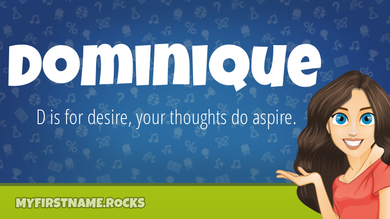 My First Name Dominique Rocks!