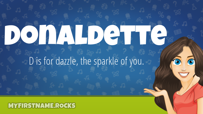 My First Name Donaldette Rocks!