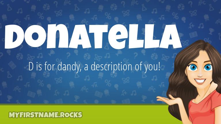 My First Name Donatella Rocks!