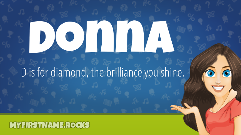 My First Name Donna Rocks!