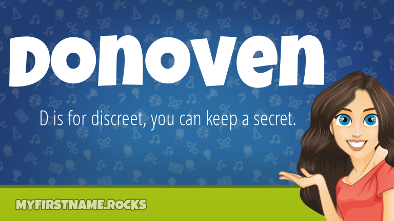 My First Name Donoven Rocks!