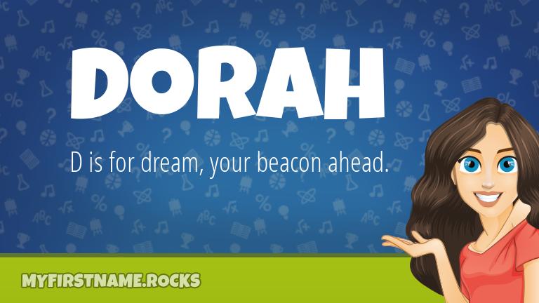 My First Name Dorah Rocks!