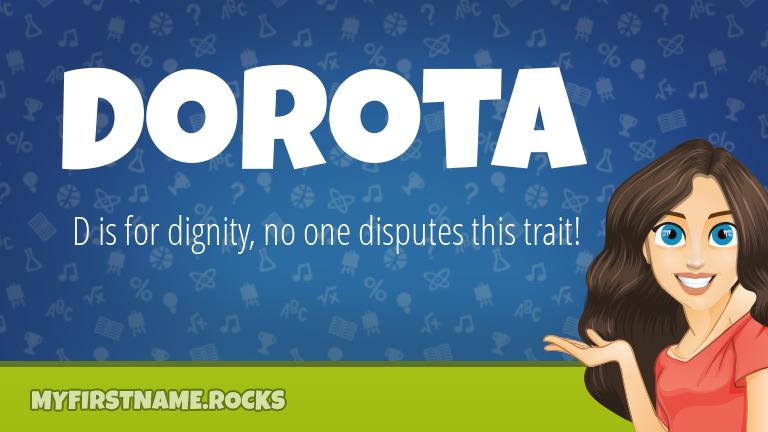 My First Name Dorota Rocks!