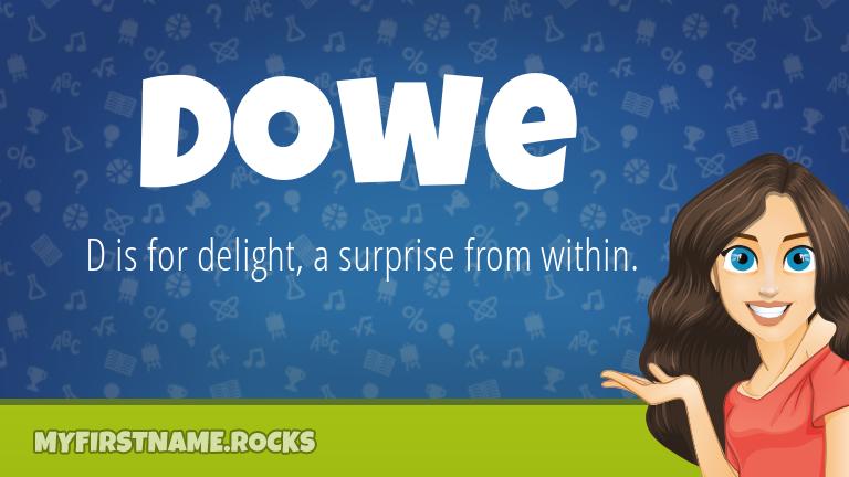 My First Name Dowe Rocks!