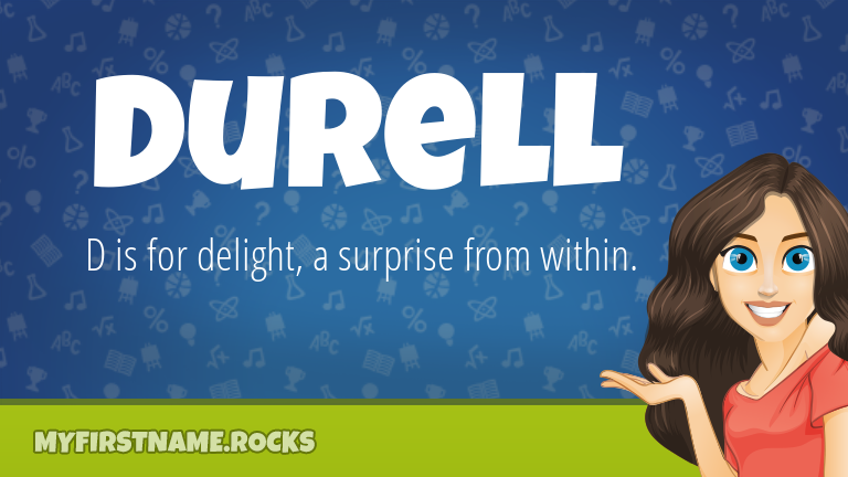My First Name Durell Rocks!