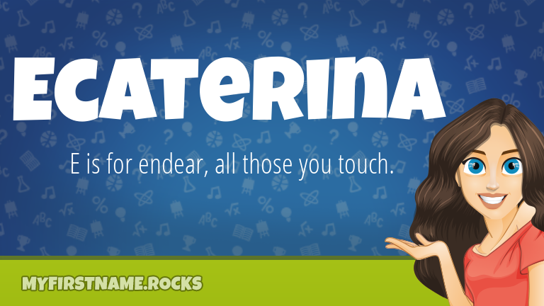 My First Name Ecaterina Rocks!