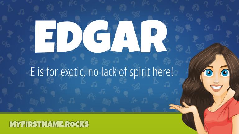 My First Name Edgar Rocks!