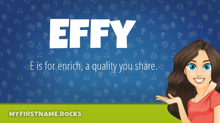 My First Name Effy Rocks!