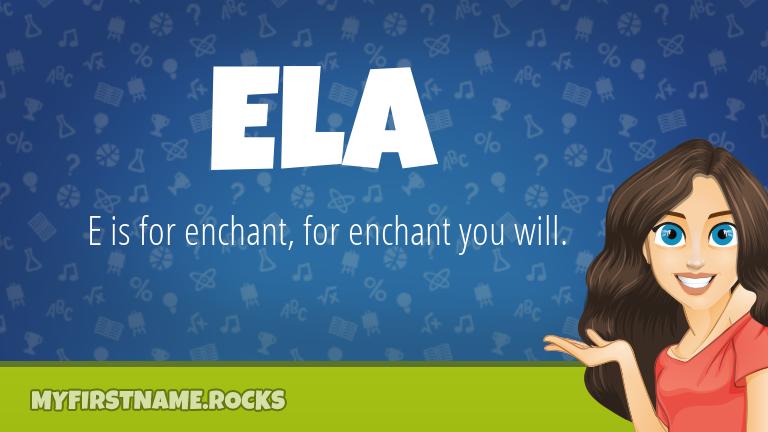 My First Name Ela Rocks!