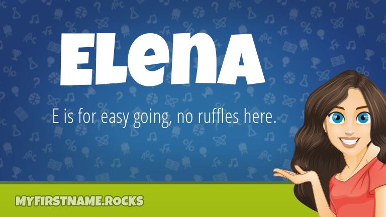 My First Name Elena Rocks!