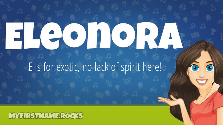 My First Name Eleonora Rocks!