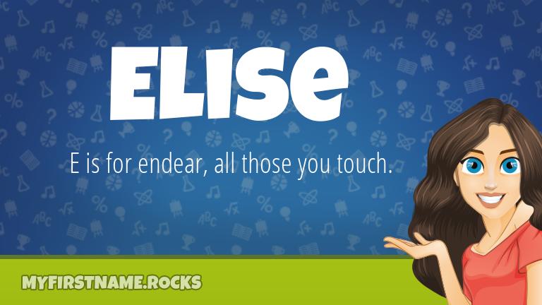 My First Name Elise Rocks!