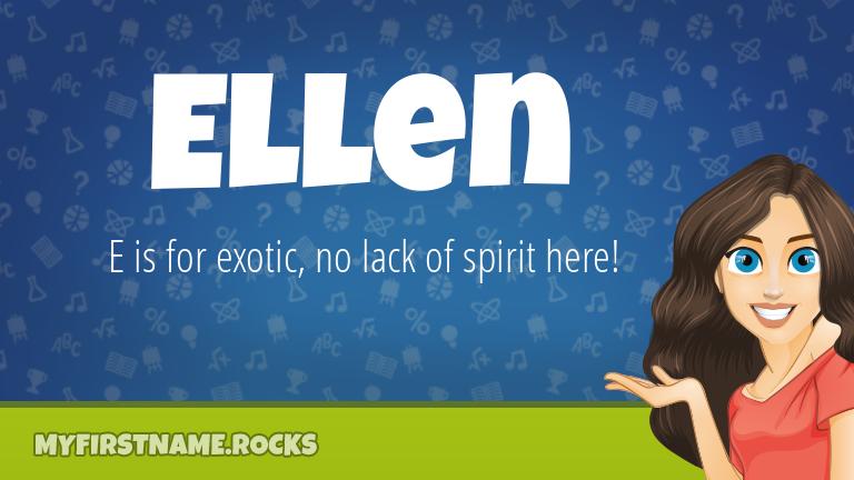 My First Name Ellen Rocks!