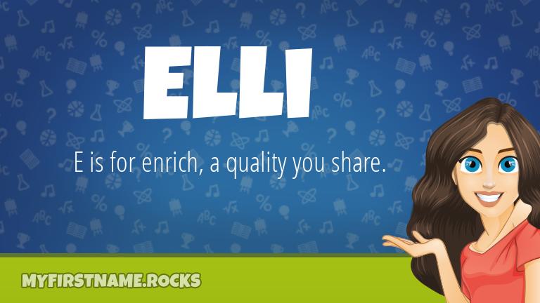 My First Name Elli Rocks!