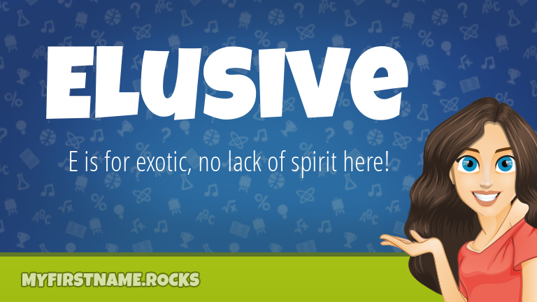My First Name Elusive Rocks!