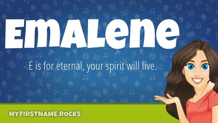 My First Name Emalene Rocks!