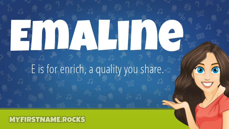 My First Name Emaline Rocks!