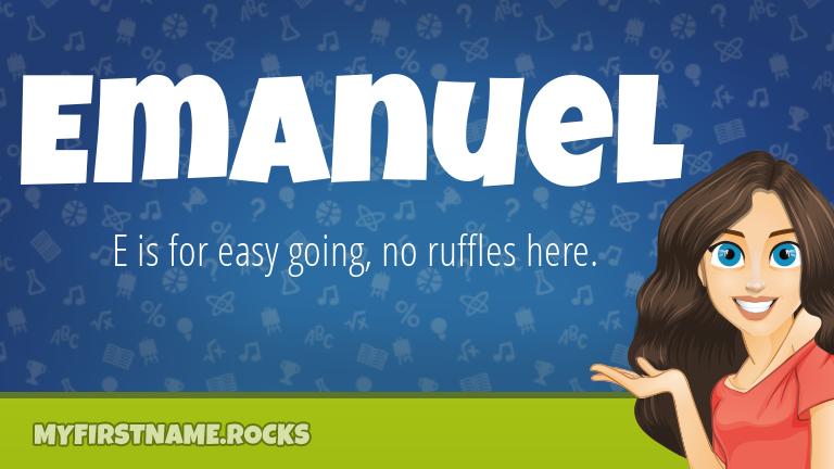 My First Name Emanuel Rocks!