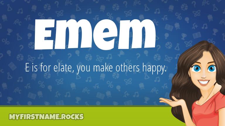 My First Name Emem Rocks!
