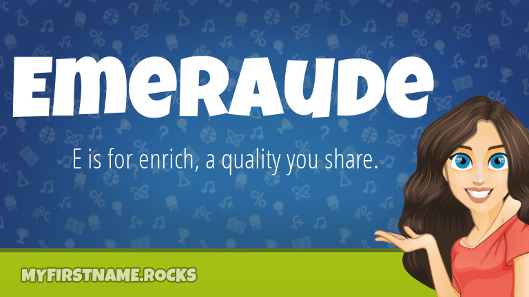 My First Name Emeraude Rocks!