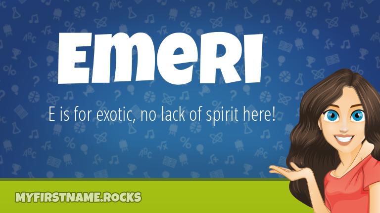 My First Name Emeri Rocks!