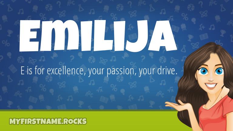 My First Name Emilija Rocks!