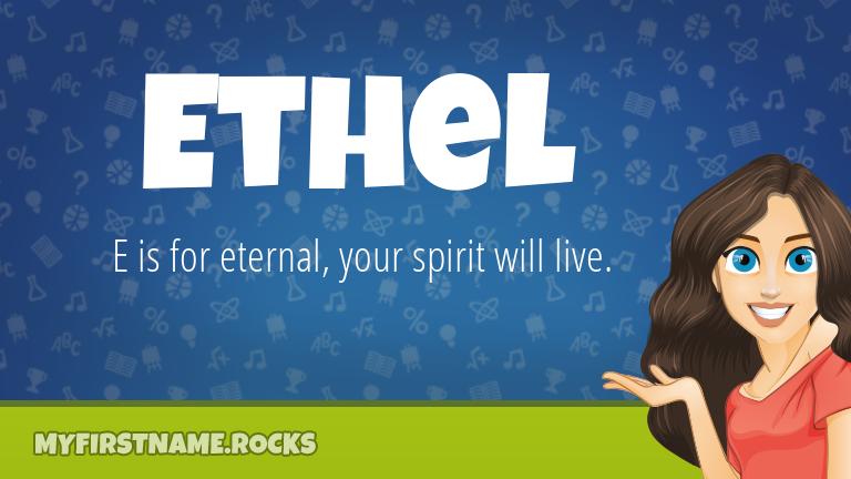 My First Name Ethel Rocks!