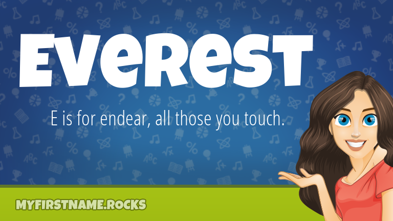 My First Name Everest Rocks!