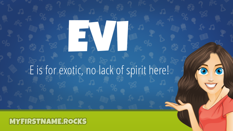 My First Name Evi Rocks!