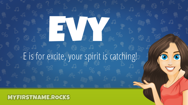 My First Name Evy Rocks!