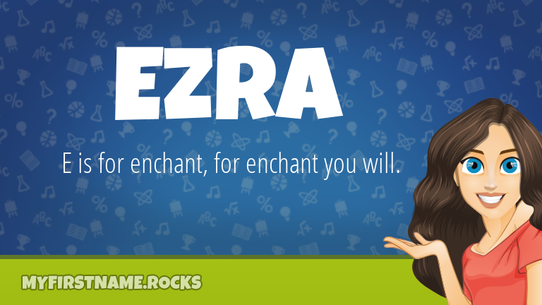 My First Name Ezra Rocks!