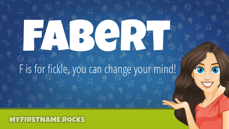 My First Name Fabert Rocks!