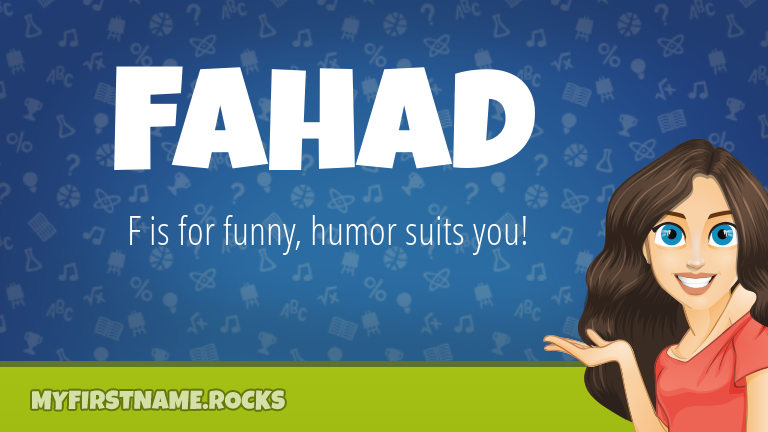 My First Name Fahad Rocks!
