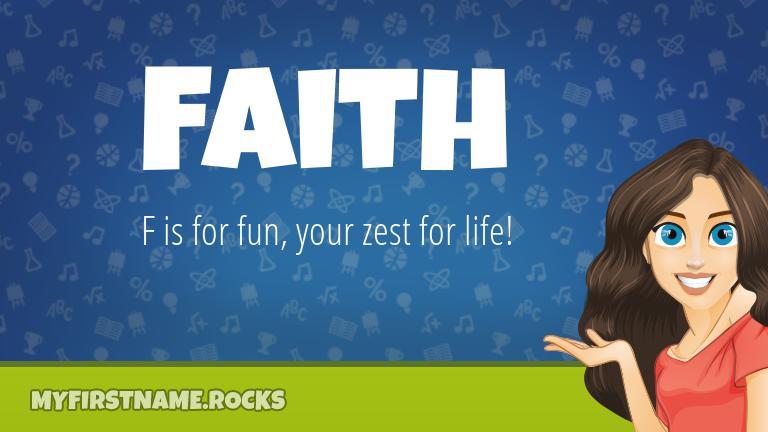 My First Name Faith Rocks!