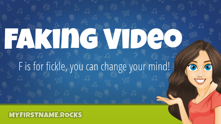 My First Name Faking Video Rocks!