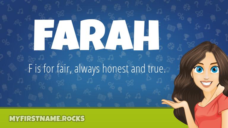 My First Name Farah Rocks!