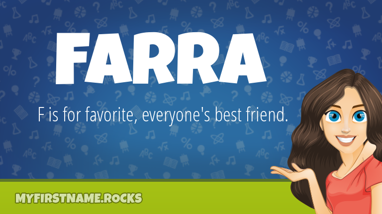My First Name Farra Rocks!