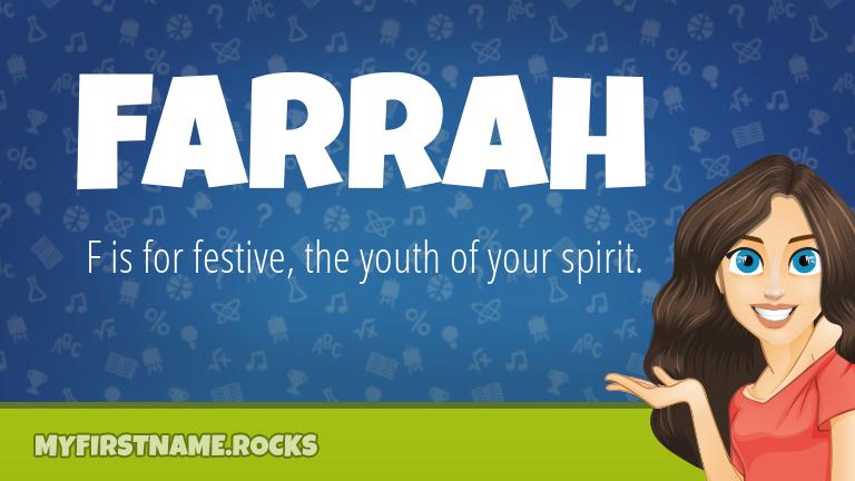 My First Name Farrah Rocks!