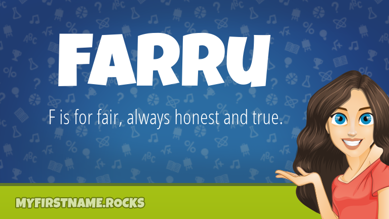 My First Name Farru Rocks!