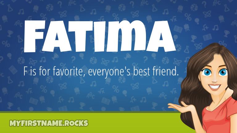 My First Name Fatima Rocks!