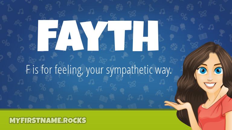 My First Name Fayth Rocks!