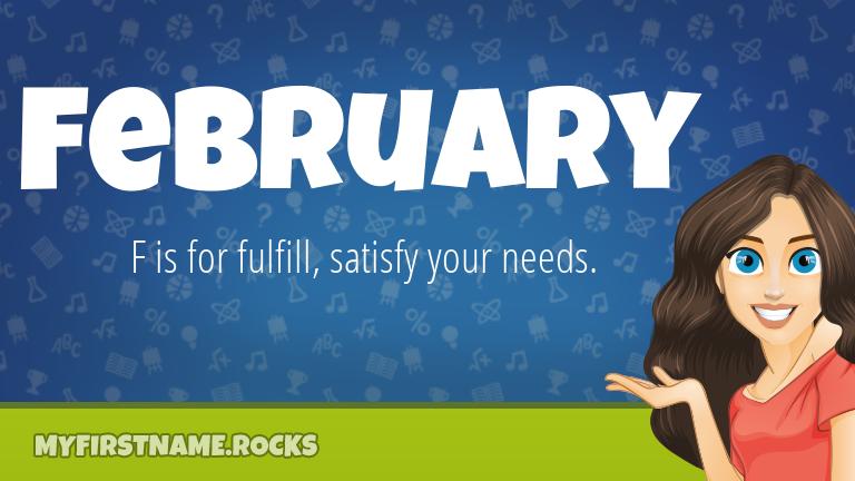 My First Name February Rocks!