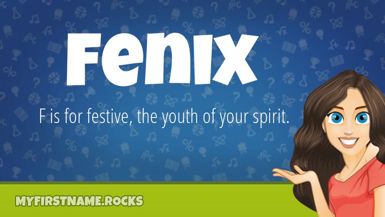 My First Name Fenix Rocks!