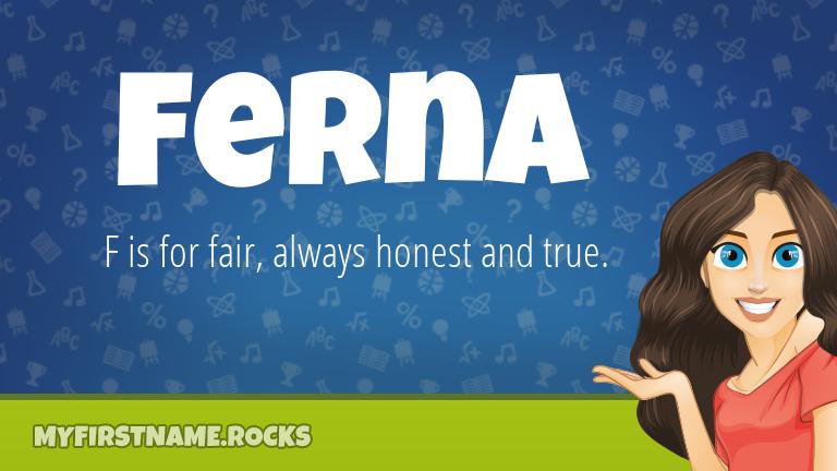 My First Name Ferna Rocks!