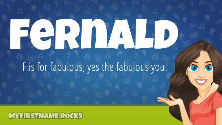My First Name Fernald Rocks!