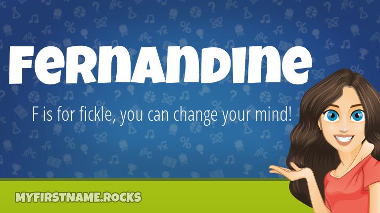 My First Name Fernandine Rocks!